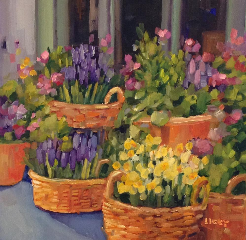 """Best Baskets"" original fine art by Libby Anderson"