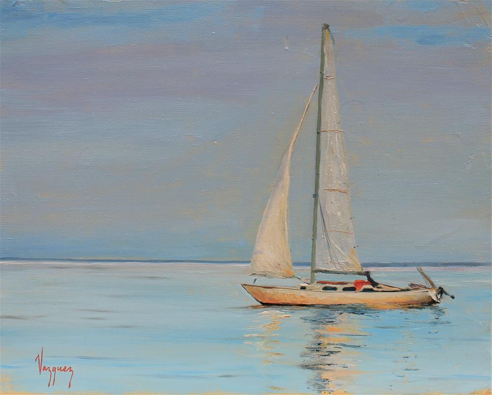 """Serenity in blue"" original fine art by Marco Vazquez"