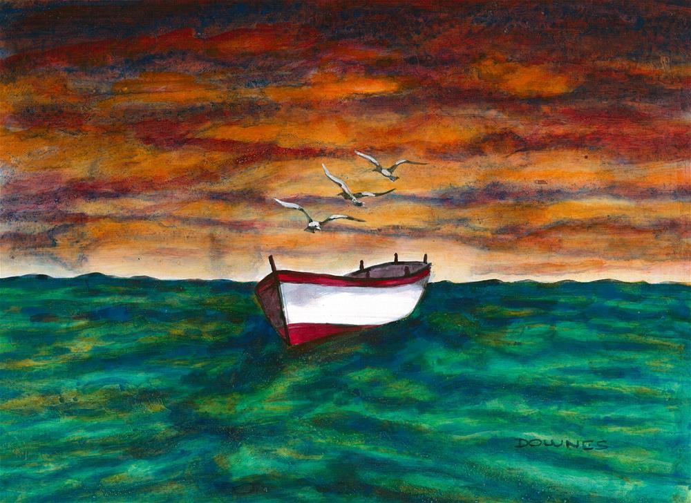 """""""302 EN MEZZO AL MARE 1"""" original fine art by Trevor Downes"""