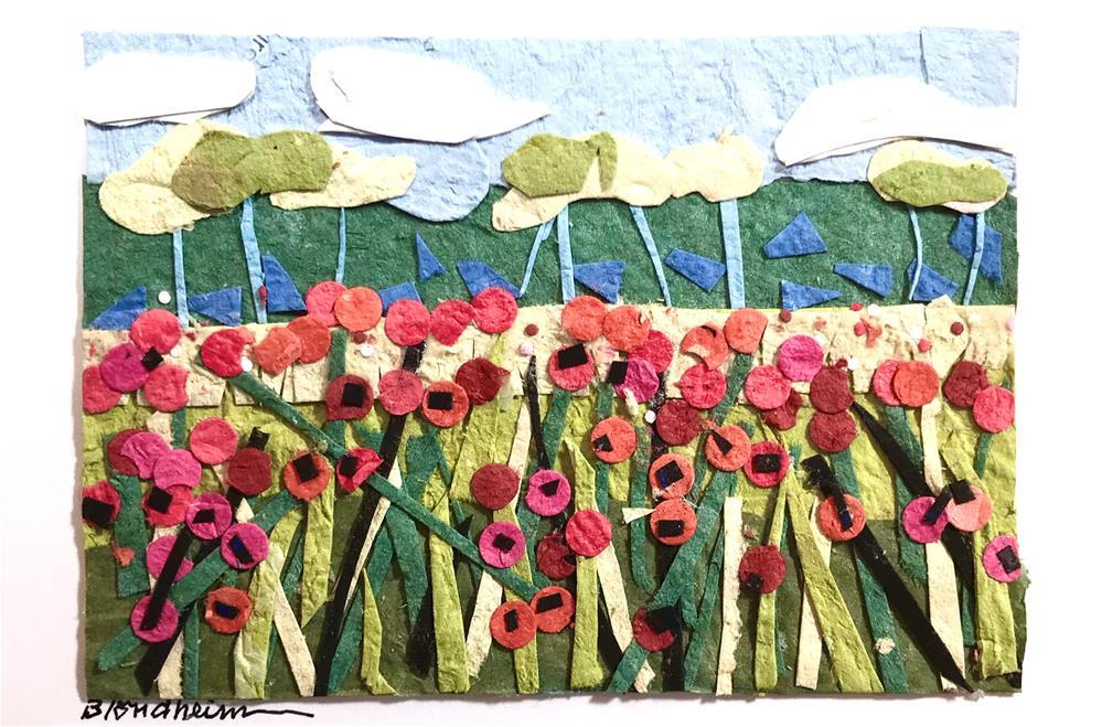 """""""Poppy Field Collage"""" original fine art by Linda Blondheim"""