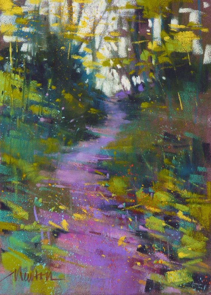"""""""Lavender Path"""" original fine art by Barbara Benedetti Newton"""