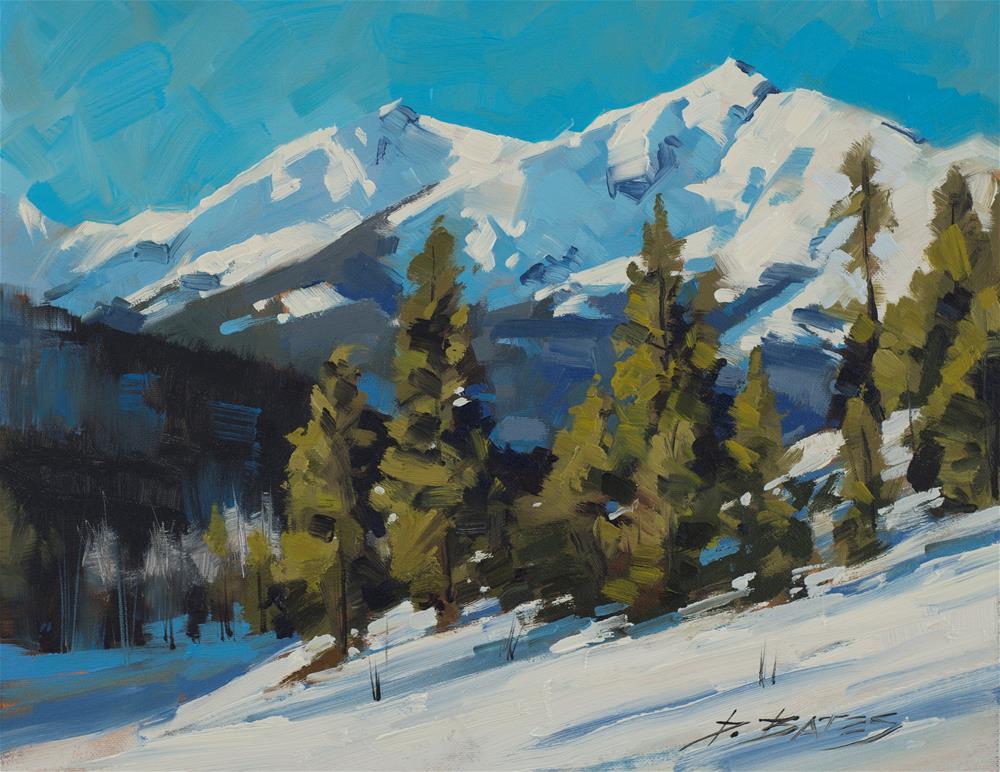 """Peak One, Highway 9"" original fine art by David Bates"