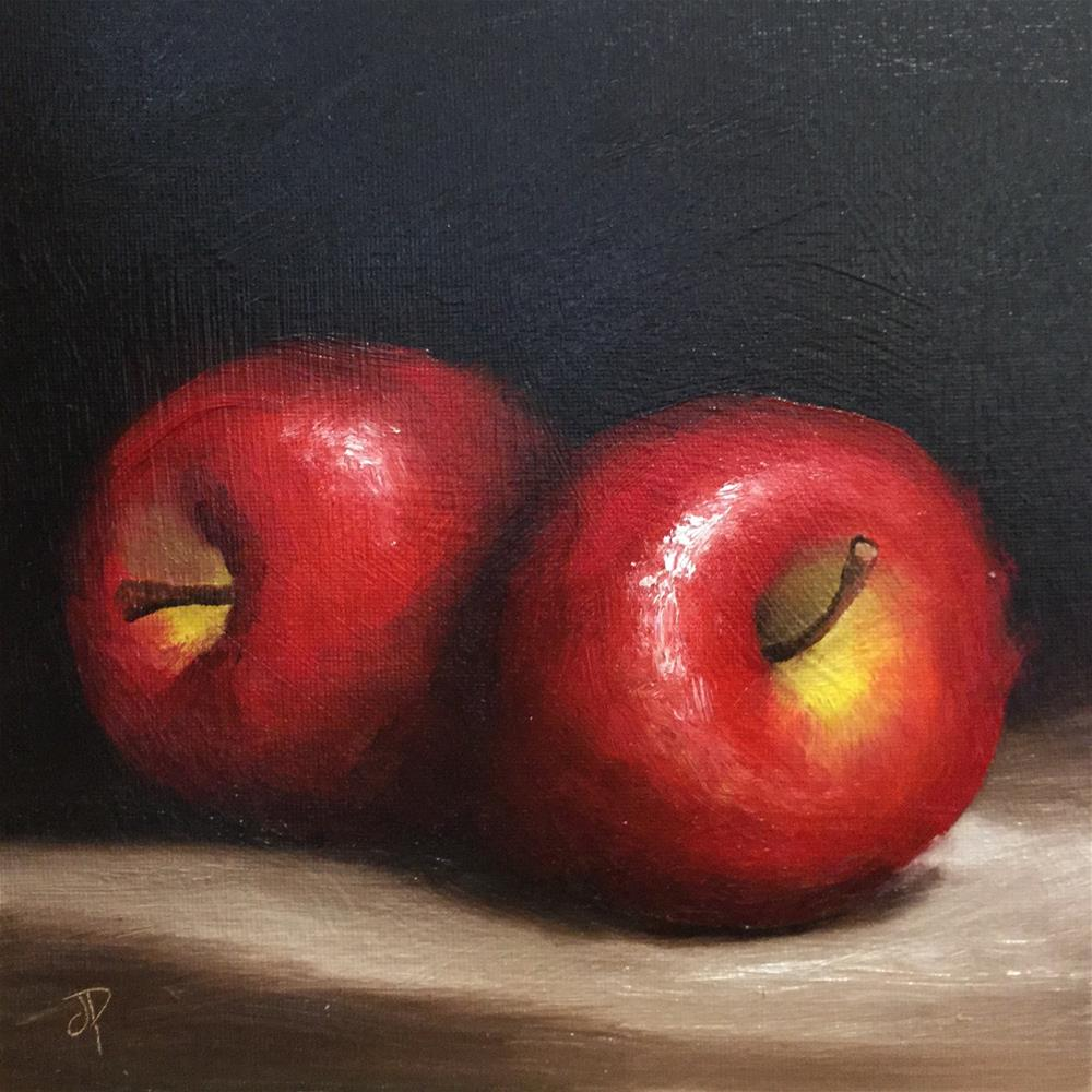 """""""Red delicious apples"""" original fine art by Jane Palmer"""