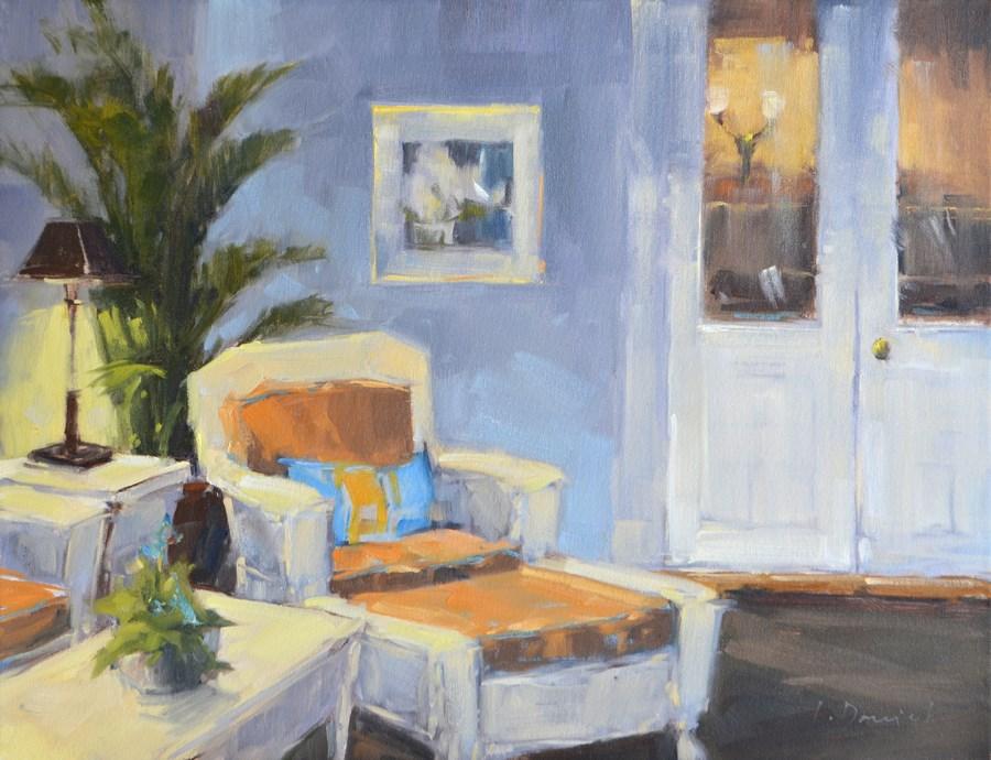 """Afternoon on the Veranda - Show Tip #4"" original fine art by Laurel Daniel"