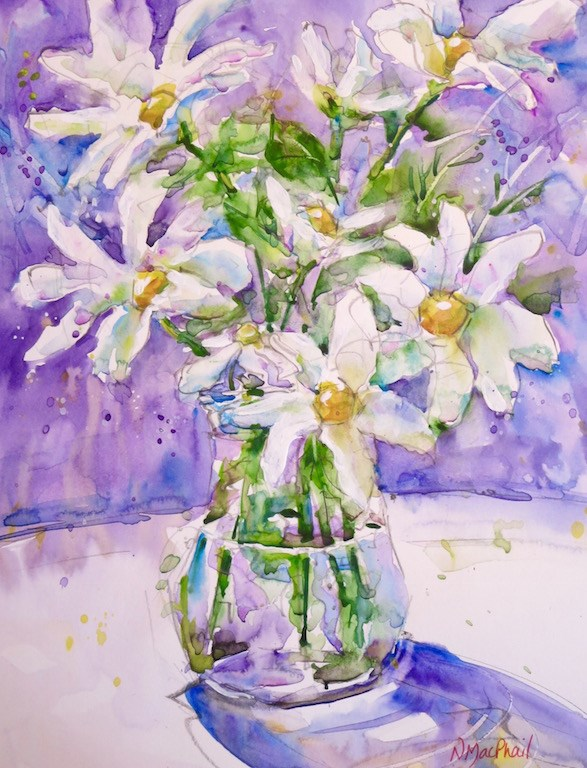 """""""oops-a-daisy"""" original fine art by Nora MacPhail"""