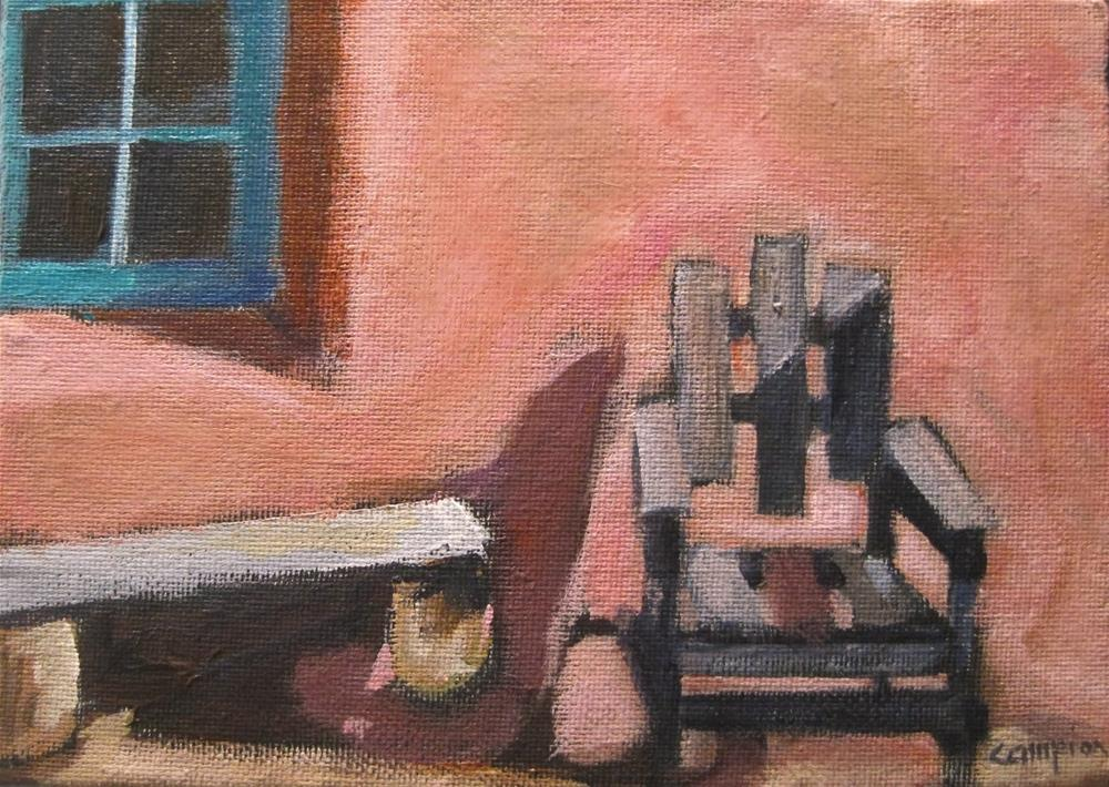 """""""216 Come Sit For Awhile"""" original fine art by Diane Campion"""