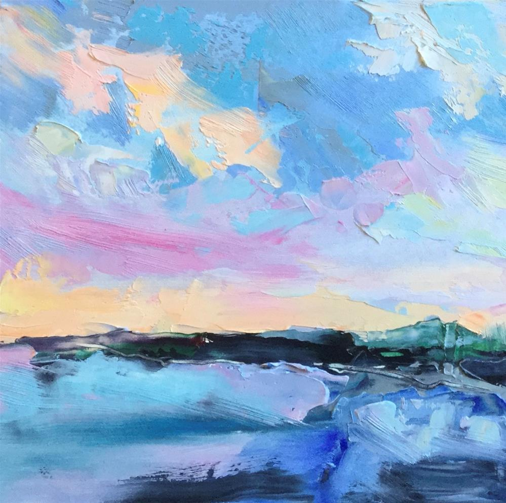 """""""Abstract Seascape 2"""" original fine art by Charlotte Fitzgerald"""