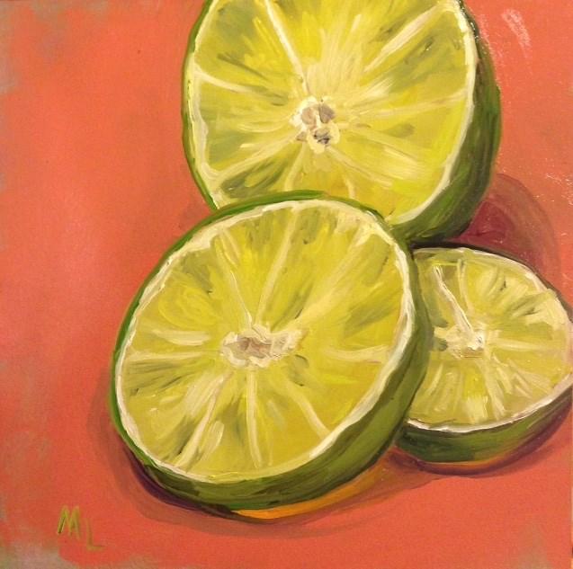"""""""Slice of Lime"""" original fine art by Marjie Laizure"""