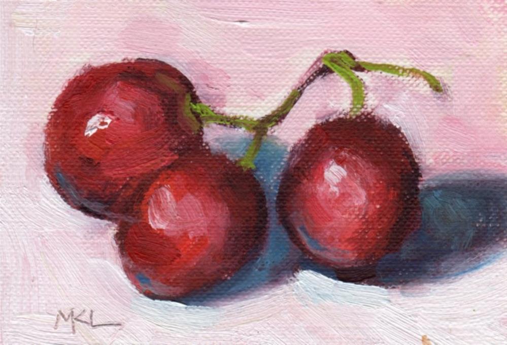 """Juicy Grapes"" original fine art by Marlene Lee"