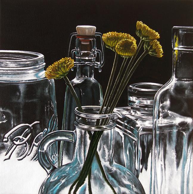 """Glass & Floral I"" original fine art by Jelaine Faunce"