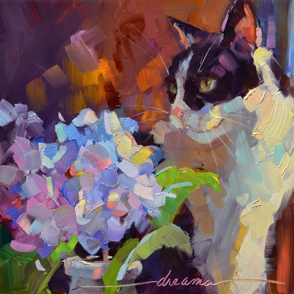 """""""Purrfection  SOLD"""" original fine art by Dreama Tolle Perry"""