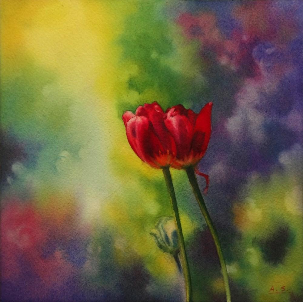 """""""Love Birds"""" original fine art by Arena Shawn"""
