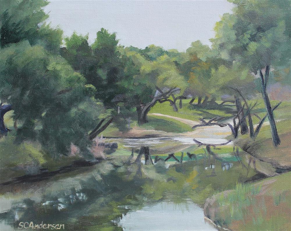 """Ranchland reflections"" original fine art by Susan Andersen"