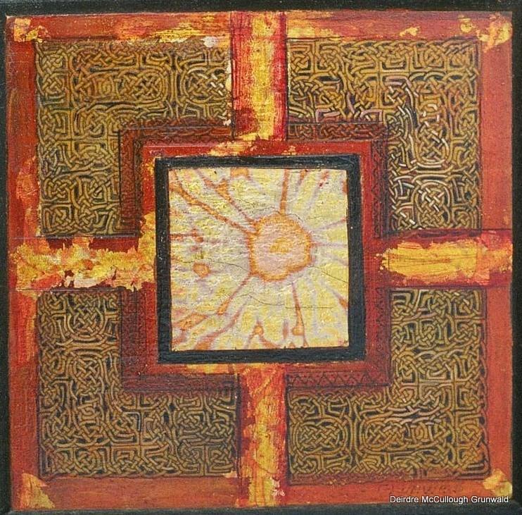 """""""Suncross"""" original fine art by Deirdre McCullough Grunwald"""
