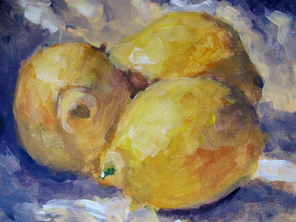 """Lemons"" original fine art by Susan Elizabeth Jones"