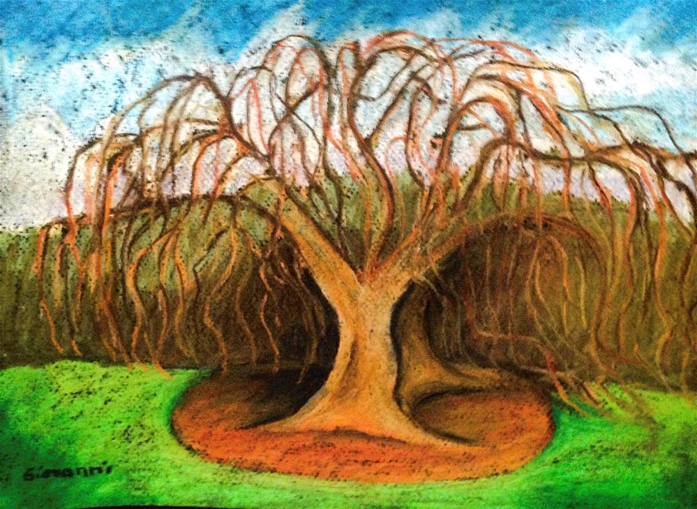 """Winter tree"" original fine art by Giovanni Antunez"
