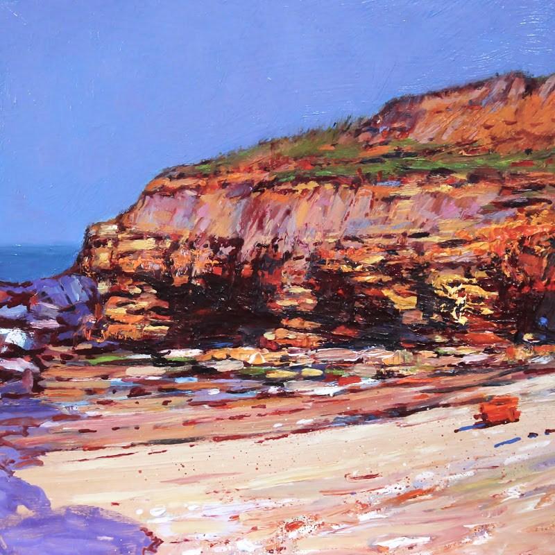 """Featherbed Rock"" original fine art by Ken Devine"