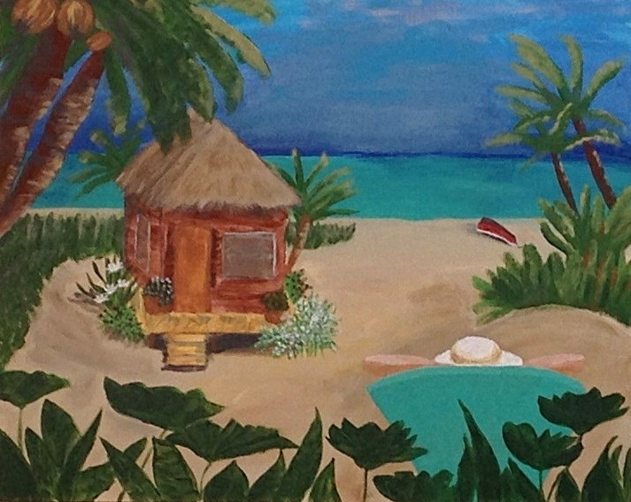 """Wish I Was Here"" original fine art by Brenda Smith"