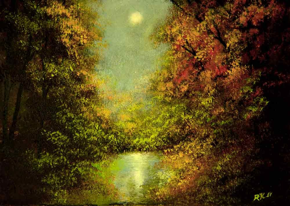 """River Mist"" original fine art by Bob Kimball"