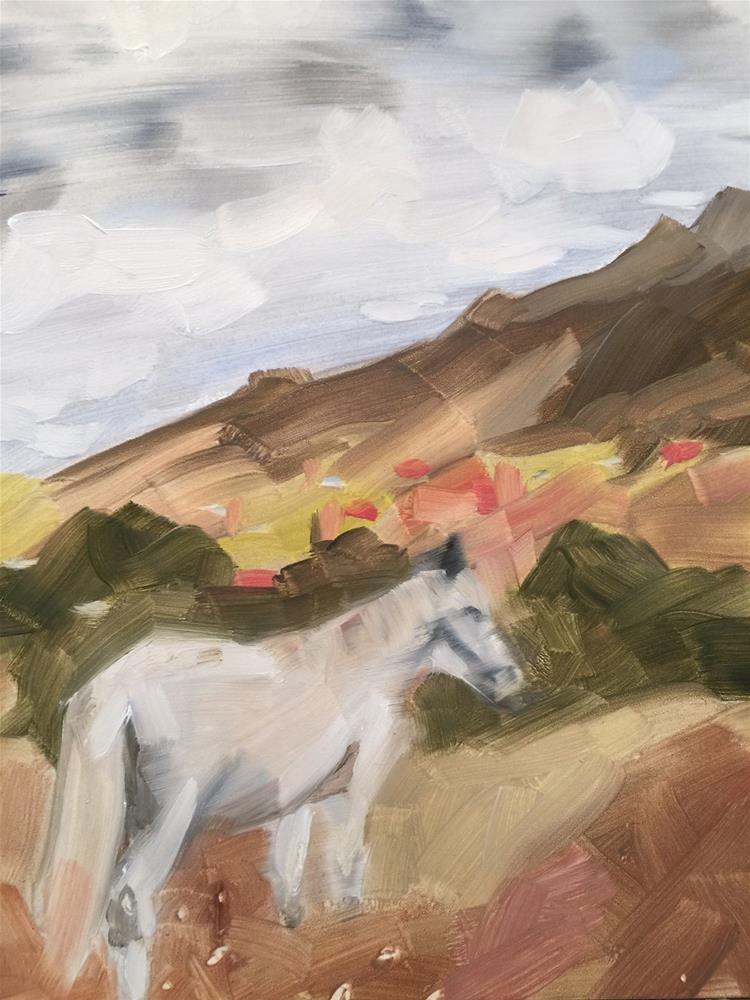 """278 Caballo Blanco"" original fine art by Jenny Doh"
