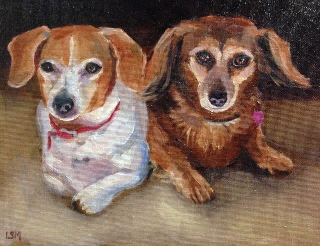 """""""Sadie and Zoey"""" original fine art by Linda Marino"""