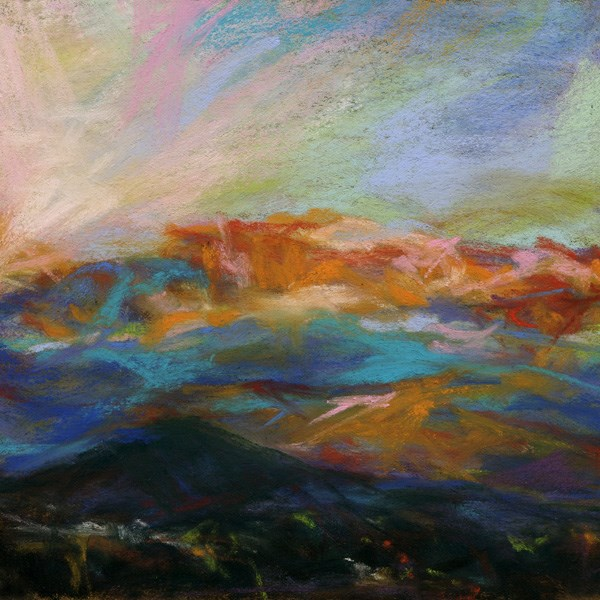 """AND THE POCKET RIPPED - 6 x 6 sunset pastel by Susan Roden"" original fine art by Susan Roden"