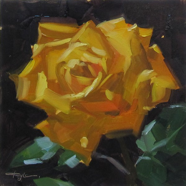 """Yellow Rose"" original fine art by Katia Kyte"