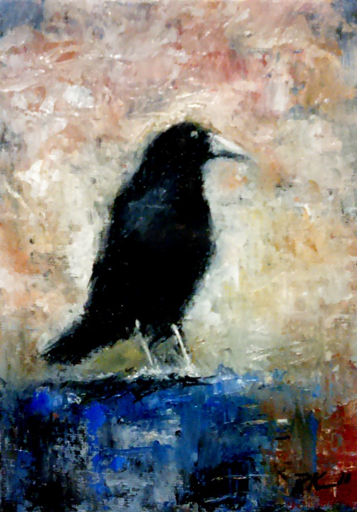 """""""The Raven is Back"""" original fine art by Bob Kimball"""