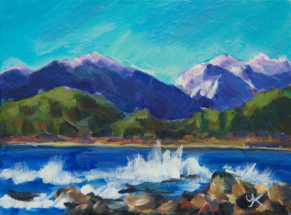 """Termination Dust, Juneau, Alaska"" original fine art by Yulia Kazansky"