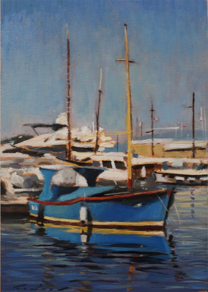 """""""Port de Saint Tropez"""" original fine art by Phil Couture"""