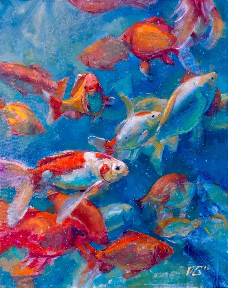 """Keep Calm and Swim On."" original fine art by Dimitriy Gritsenko"