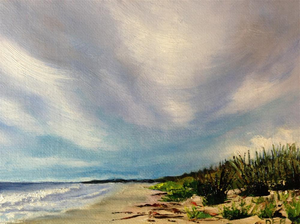 """Prelude to Tropical Storm Ana"" original fine art by Debbie Yacenda"