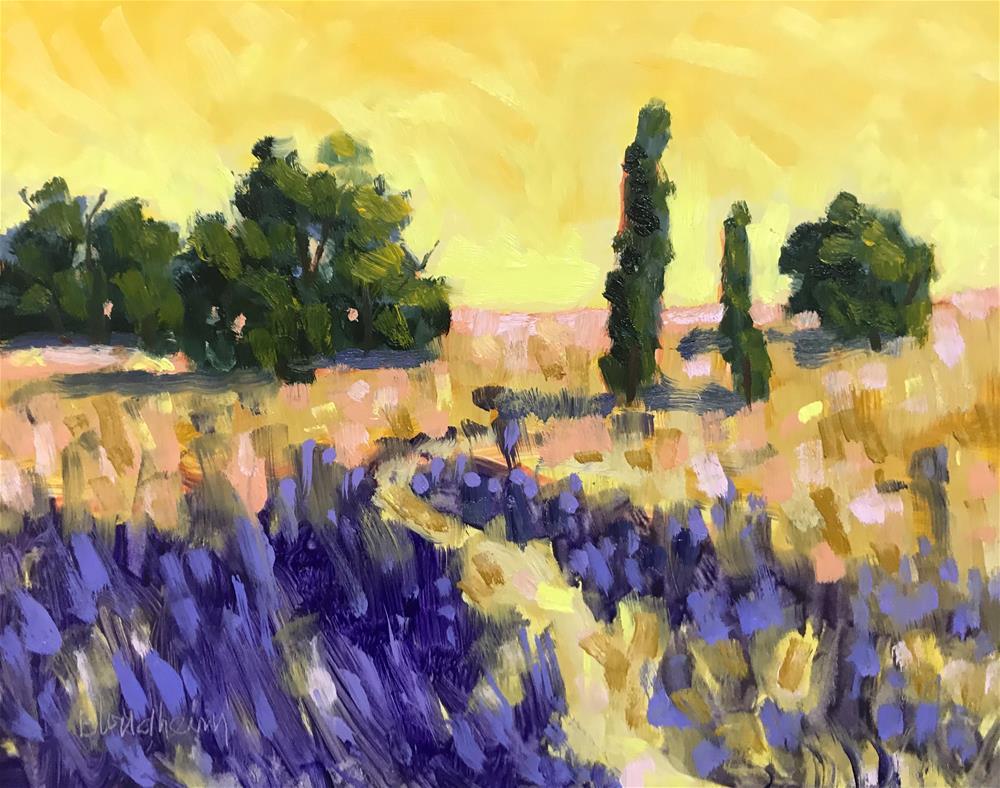 """Fallow Lavendar Field"" original fine art by Linda Blondheim"