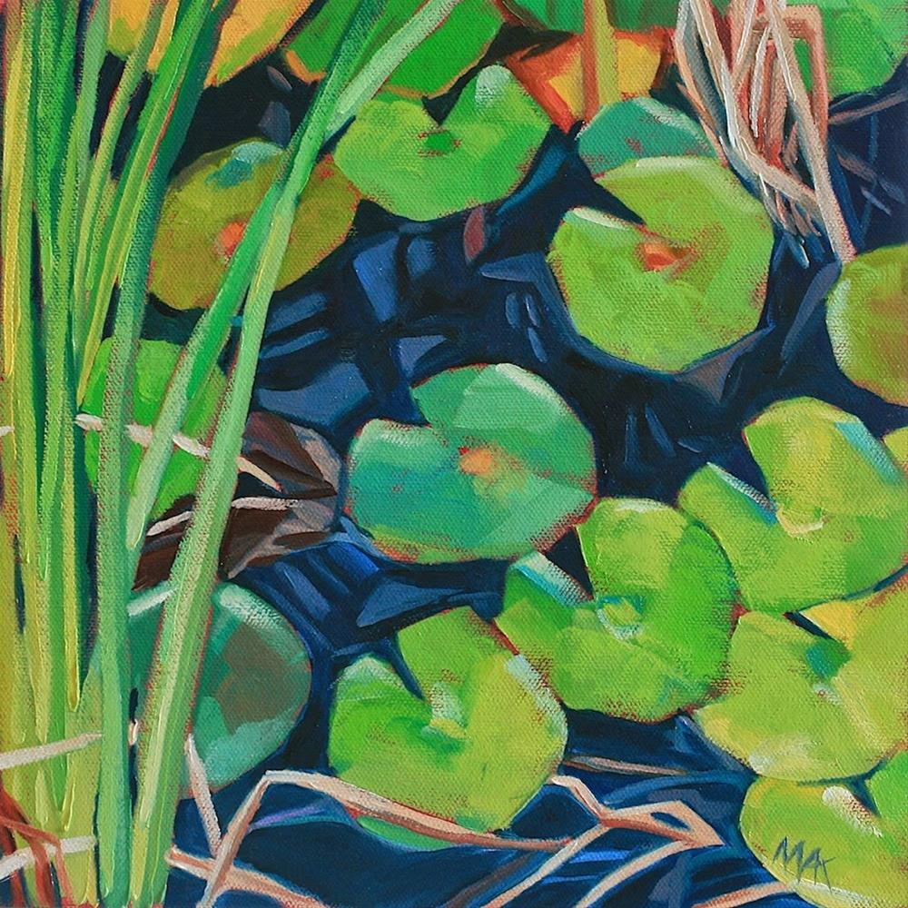 """By the Pond"" original fine art by Mary Anne Cary"