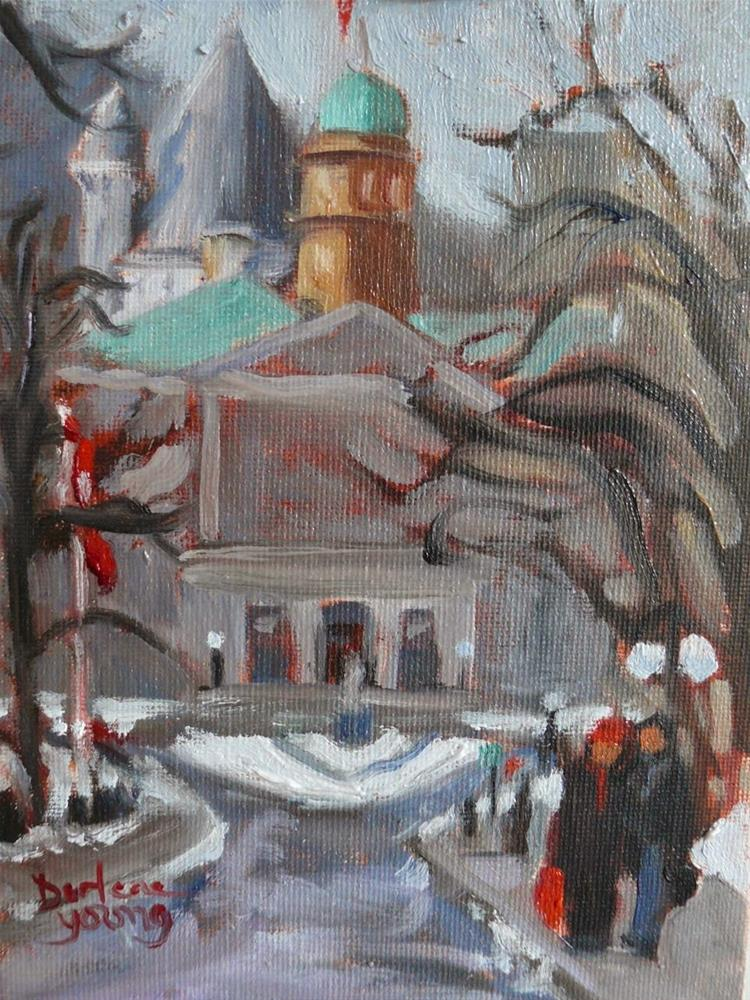 """787 McGill Romance, 6x8"" original fine art by Darlene Young"