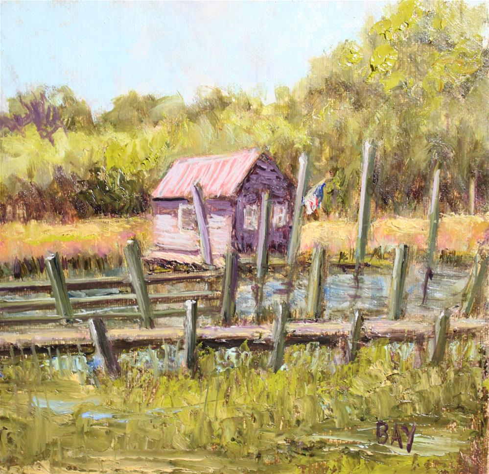 """Shem Creek Morning"" original fine art by barbara yongue"