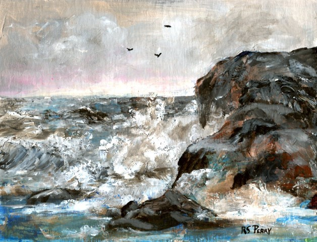 """The Breakers "" original fine art by R. S. Perry"