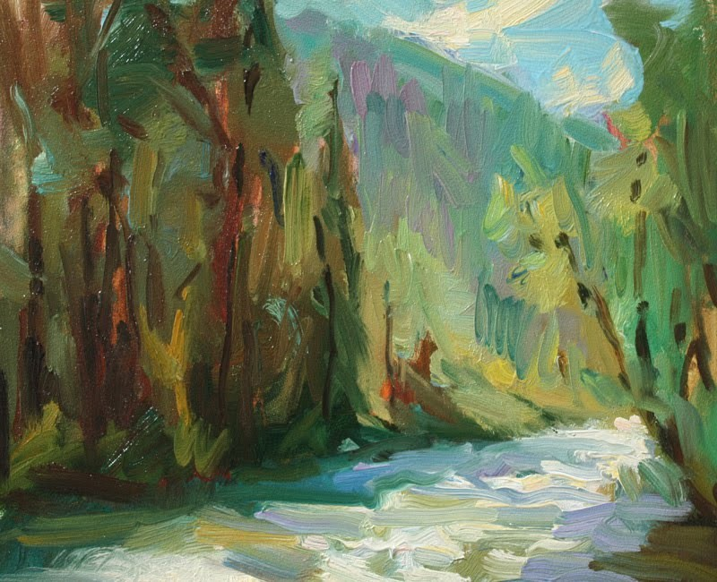 """Stream Study"" original fine art by Kathryn Townsend"