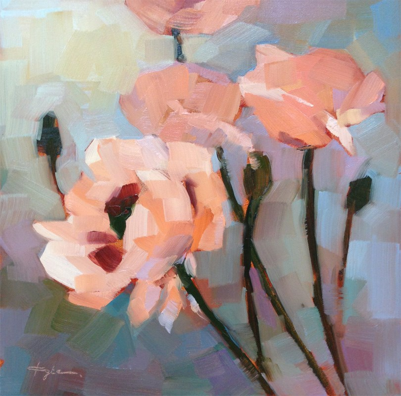"""Poppies"" original fine art by Katia Kyte"