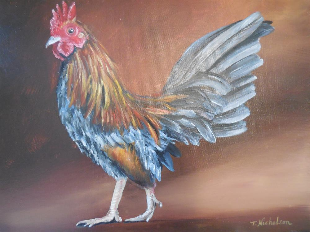 """Old English Game Hen"" original fine art by Terri Nicholson"
