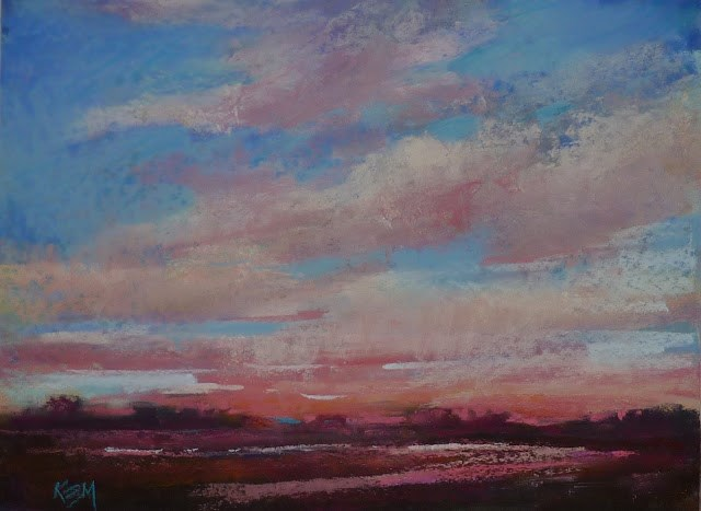 """Sky Painting Tip #5  Painting the Sunset"" original fine art by Karen Margulis"