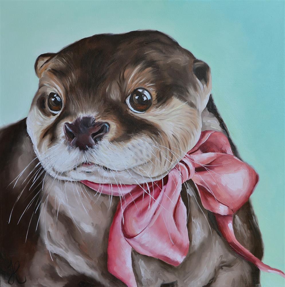 """""""Sweet Otter"""" original fine art by Jacinthe Rivard"""