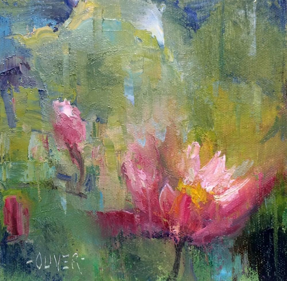 """""""The Water Lily"""" original fine art by Julie Ford Oliver"""