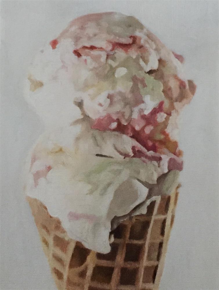 """Raspberry Ripple Cone"" original fine art by John Cameron"