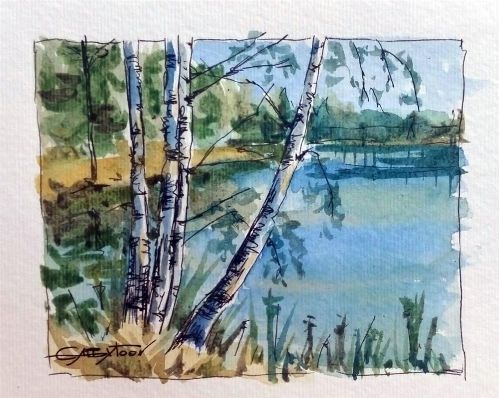 """Quick Sketch"" original fine art by Gabriella DeLamater"