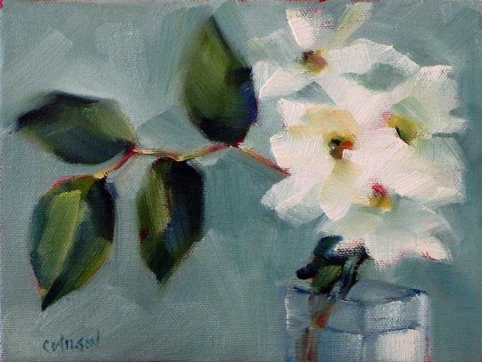 """Flowers #5 Daisies"" original fine art by Cheryl Wilson"