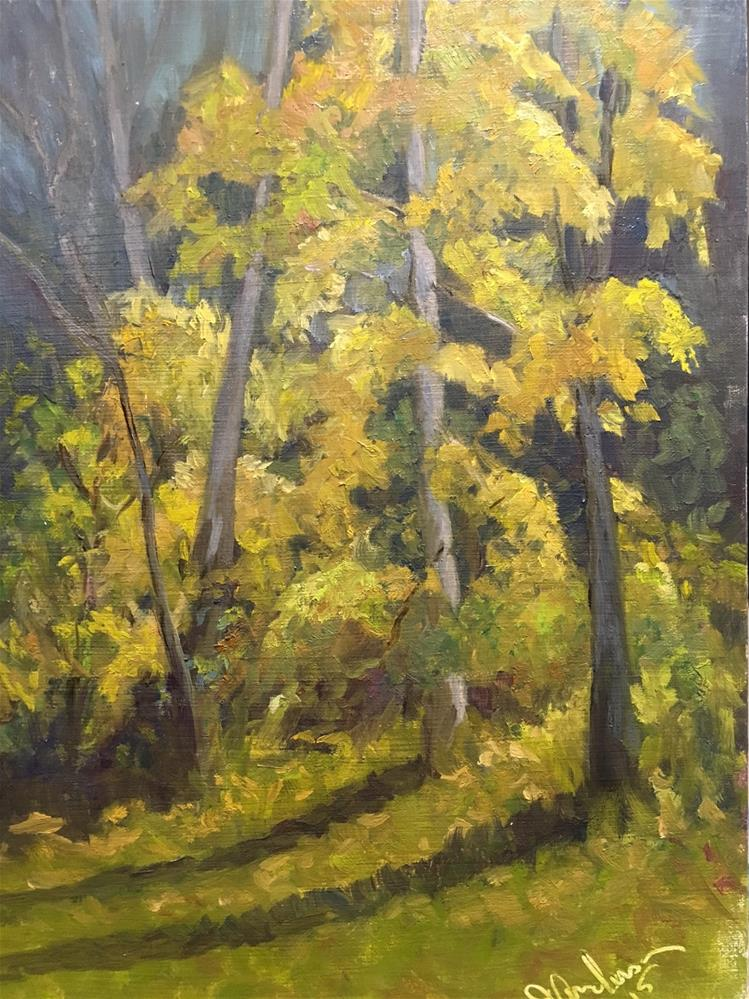 """Autumn Leaves"" original fine art by Judith Anderson"