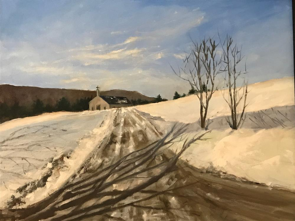 """road to the chapel"" original fine art by Betty Argiros"
