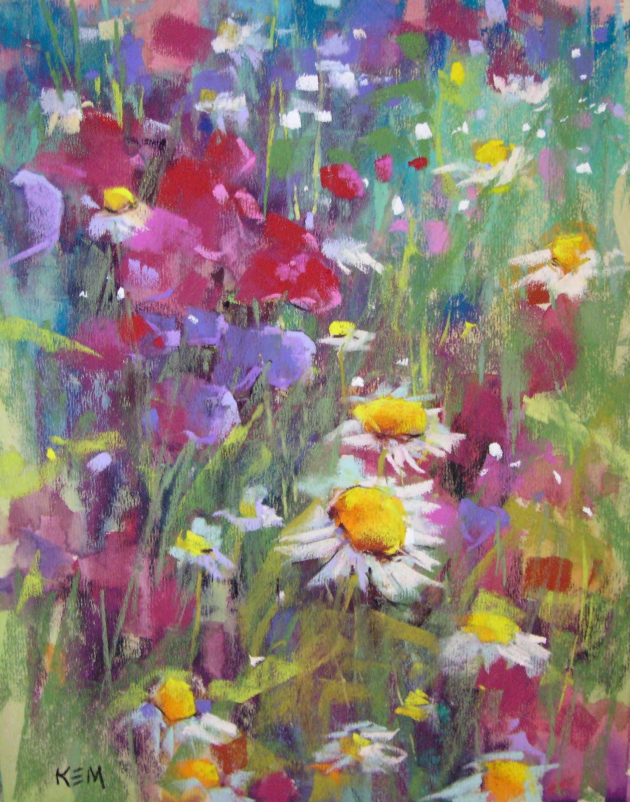 """New Wildflower Painting with Demo"" original fine art by Karen Margulis"