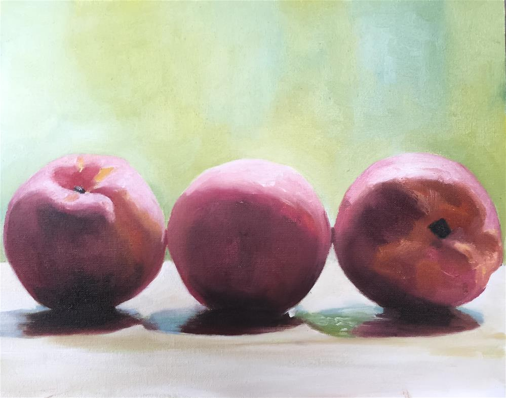 """Peaches"" original fine art by James Coates"